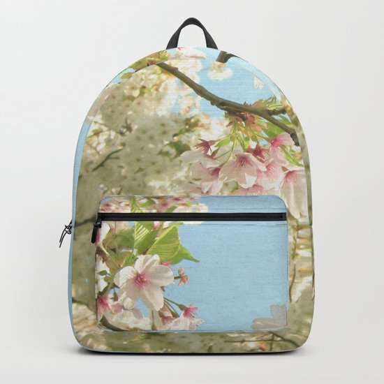 Pink on White Backpack