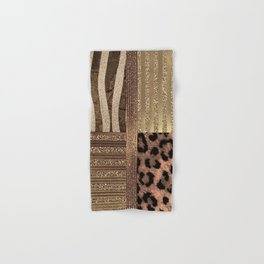 Gold Lioness Safari Chic Hand & Bath Towel