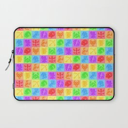 Zodiac Zentangle - All signs (Rainbow Ver.) Laptop Sleeve