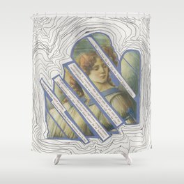 Deconstructed Angel Shower Curtain