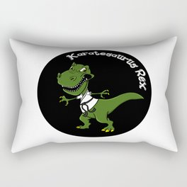 Karatesaurus Rex Karate Present Gift Dino Dinosaur Rectangular Pillow