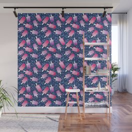 Blueberry Ice Cream Popsicles Wall Mural
