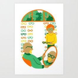O as Optician Art Print