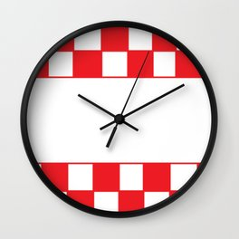 Red chess board Wall Clock