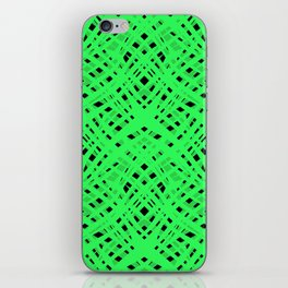 Green geometric iPhone Skin