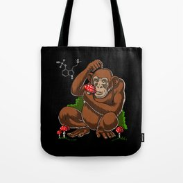 Psychedelic Psilocybin Mushrooms Stoned Ape Theory Tote Bag