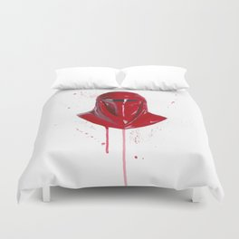 Red Imperial Guard Duvet Cover
