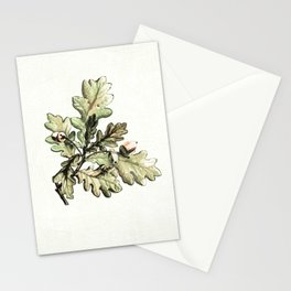 Oak leaf cluster watercolour Stationery Cards