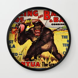 1938 Ringling Brothers and Barnum & Bailey Big Top 'GARGANTUA the Great' Circus Poster Wall Clock