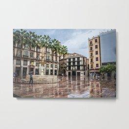 Malaga - Rainy day Metal Print