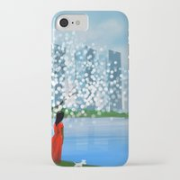 tintin iPhone & iPod Cases featuring Blossom City by Kennie Gathuru