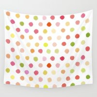 dot Wall Tapestries featuring Dotty dot dot by marcegaral
