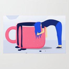 Get Up, Drink Coffee Rug