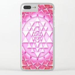 Sri Yantra Lotus I Clear iPhone Case