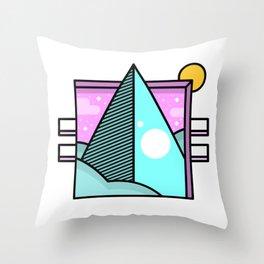 Retro Pop Pyramid Throw Pillow
