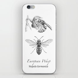European Wasp, Vespula germanica  iPhone Skin