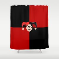 harley Shower Curtains featuring Harley Quinn by Electra