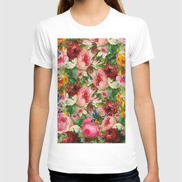 Colorful Floral Pattern | Je t'aime encore T-shirt