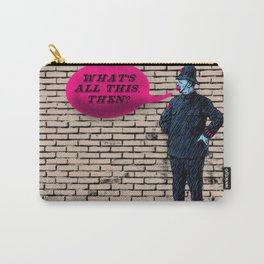 """""""What's All This, Then?"""" Vintage Bobby Print Carry-All Pouch"""