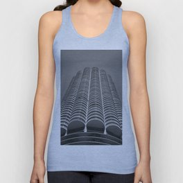 Marina City Tower Photo, Chicago, Architecture Unisex Tank Top