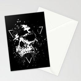 Skull X (bw) Stationery Cards