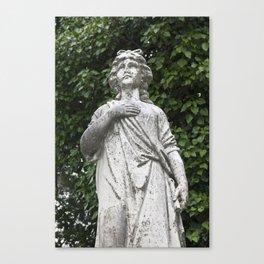 Woman Statue Closeup Canvas Print
