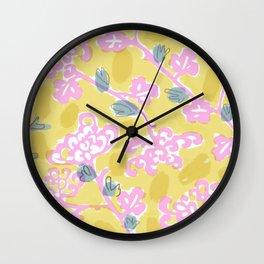 Chinese Mum Wall Clock