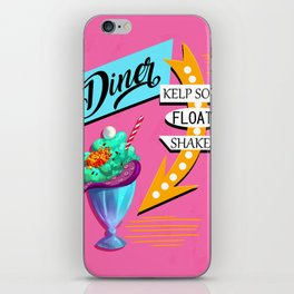 Limited Edition Undersea Mermaid Diner Poster! iPhone Skin