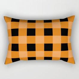 Orange and Black Buffalo Check Rectangular Pillow