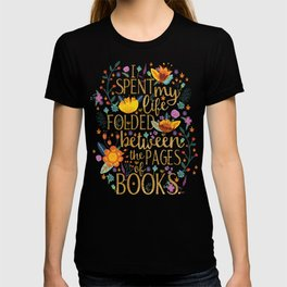 Folded Between the Pages of Books - Floral T-shirt