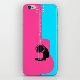 Pink Acoustic Guitar Background iPhone Skin