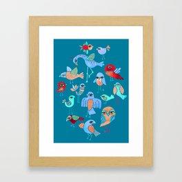 Quirky Birds Framed Art Print