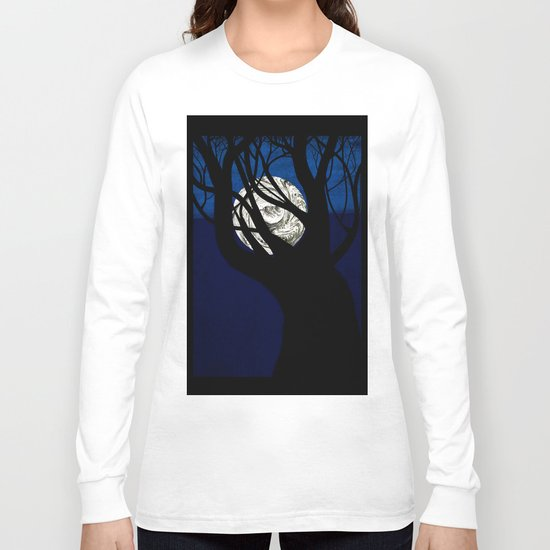 Moon Visits Tree Long Sleeve T-shirt