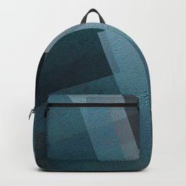 Blends of Blue - Digital Geometric Texture Backpack