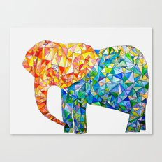 acute elephant Canvas Print