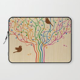 Retro Style Musical Notes Tree Laptop Sleeve