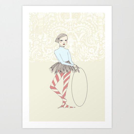 Harlequin Girl Art Print