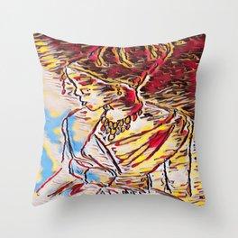 Yapah Girl Throw Pillow