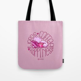 Scribbles: Words. Coffee. Happiness. Tote Bag
