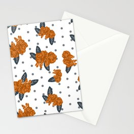 Texas longhorns florals college UT university sports football fan team alumni Stationery Cards