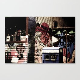 Kangeroo in the city Canvas Print