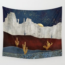 Moonlit Desert Wall Tapestry