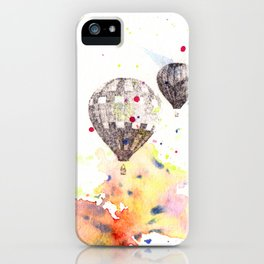 Hot Air Balloons Painting iPhone Case