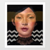 asian Art Prints featuring Asian beauty by Stephanie Struse