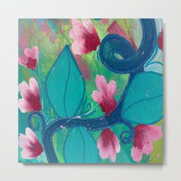 Pretty Flowers on a Fat Vine Metal Print
