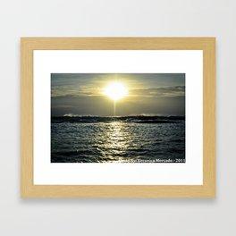 Sun Rise Over the Vast Ocean Framed Art Print