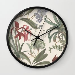 Botanical Stravaganza Wall Clock