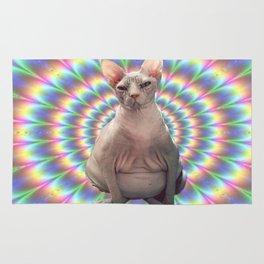 Grumpy hipster cat  Rug