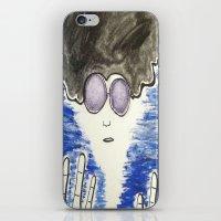 hippie iPhone & iPod Skins featuring Hippie by ArtAngel