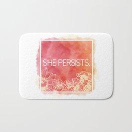She Persists. Bath Mat